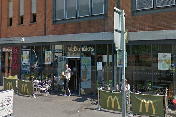 McDonalds Manc Protesters In Anonymous Masks Stage Sit In At McDonalds, Force Store To Close