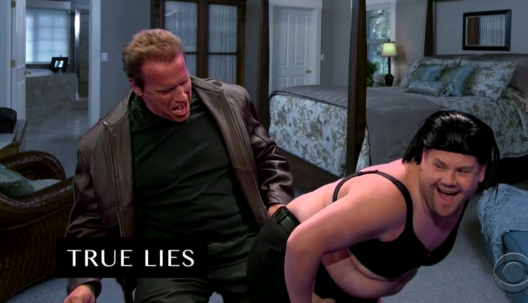 Arnie Acts Out His Film In 6 Minutes With James Corden Screen Shot 2015 05 05 at 10.40.54