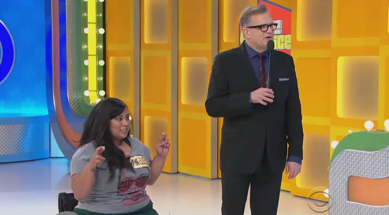 The Price Is Right Gives Contestant In Wheelchair A Treadmill Screen Shot 2015 05 06 at 12.01.59
