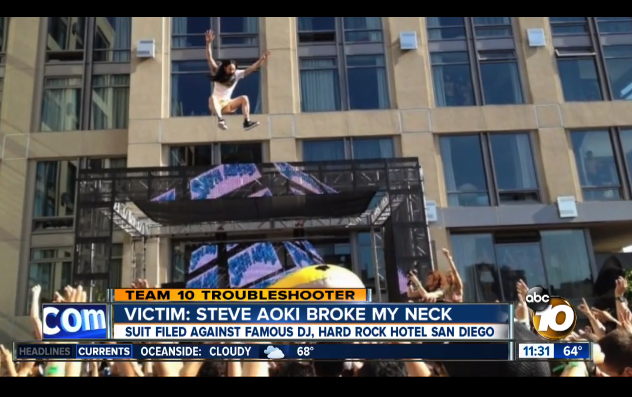 aoki 1 Steve Aoki Being Sued For Breaking Girls Neck During A Crowd Surf