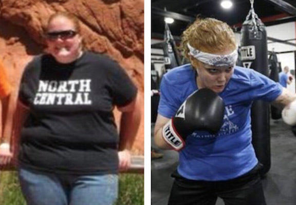 boxing weight loss WEB Morbidly Obese Woman Close To Death Takes Up Boxing, Loses 200 Pounds