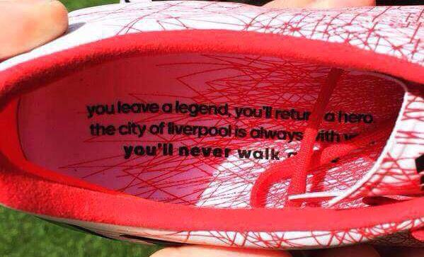 The Boots Steven Gerrard Wore In His Last Anfield Match Were Pretty Incredible gerrard boots 1