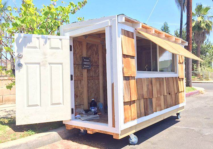 house Man Builds Tiny House For 60 Year Old Homeless Woman