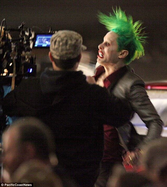 leto joker 20 The Joker Looks Crazy As F*ck In These Suicide Squad Set Photos