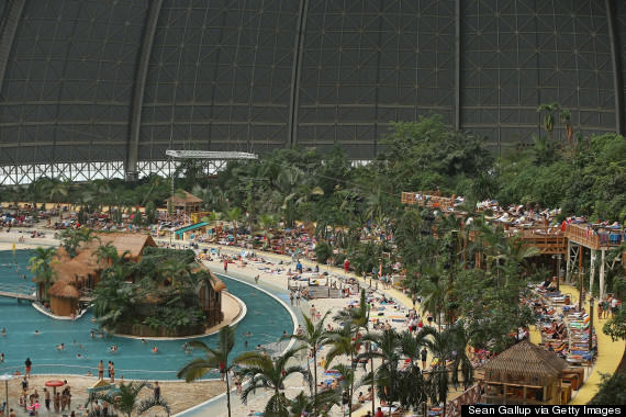 o 161955540 570 This Massive Aircraft Hangar In Germany Is Actually A Tropical Island Paradise