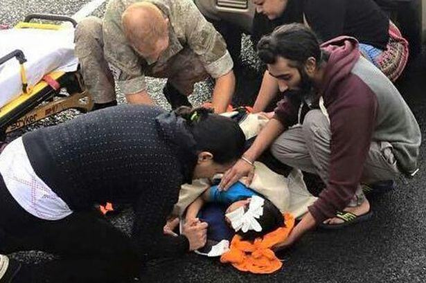 sikh man 1 Sikh Man Removes Turban To Help Save Boys Life After Car Accident