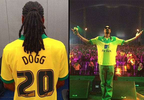 snoop norwich WEB Snoop Dogg Shows Support For Norwich City At Radio 1s Big Weekend
