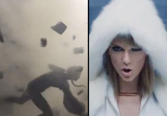 taylor swift WEB Taylor Swift Flung Through Wall Like A Ragdoll During Failed Video Stunt