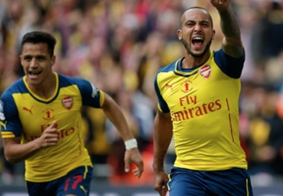 Arsenal Are The 2015 FA Cup Winners theo web