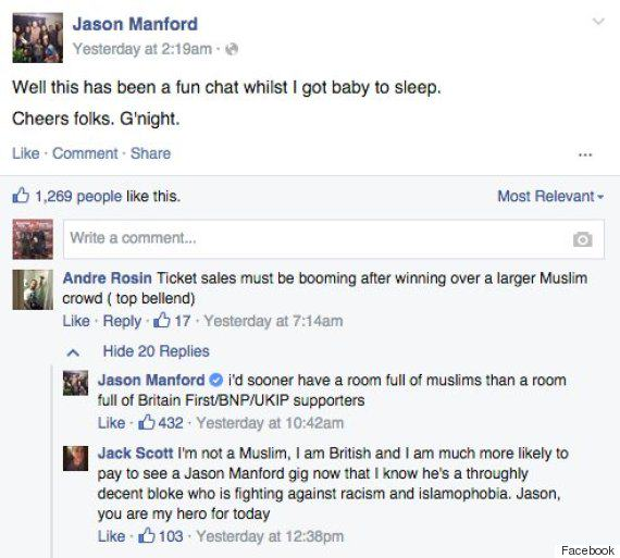 Jason Manford Argues With Britain First After Calling Some Of His Own Mates Out For Sharing Their Posts 328