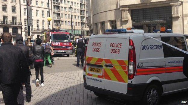 83534848 83534847 Man Tackled After Threatening To Set Himself On Fire Outside BBC
