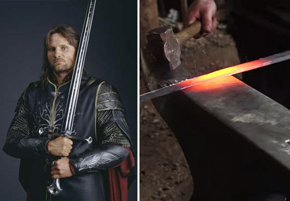 Blacksmiths Create Replica Of Aragorns Sword From Lord Of The Rings anduril WEB