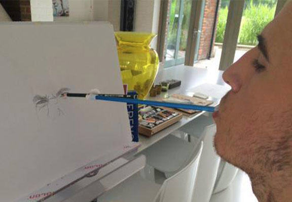 andy murray painting WEB Talented Lad Draws Andy Murray Portrait Using ONLY His Mouth