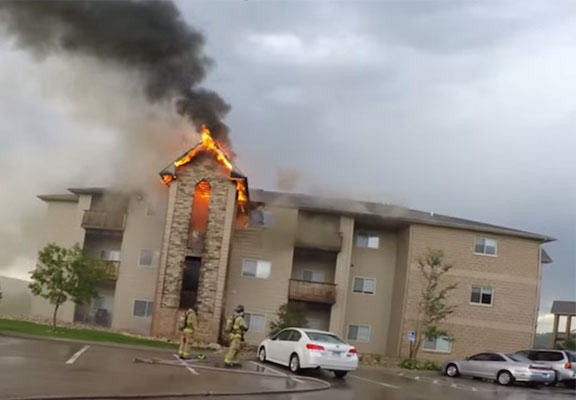 burning apartment WEB Men Film Themselves Saving Lives During Apartment Building Blaze