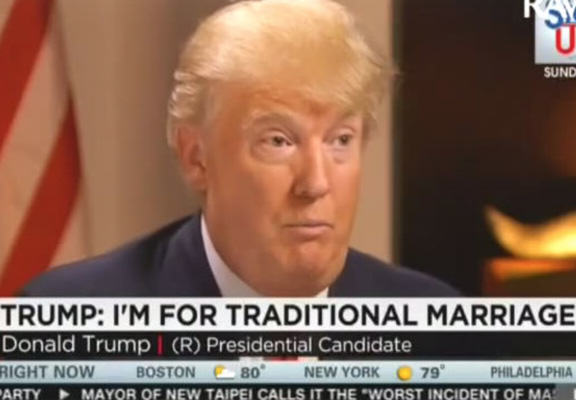 This Guy Had The Perfect Putdown To Expose Donald Trumps Hypocrisy On Gay Marriage donald trump lol WEB