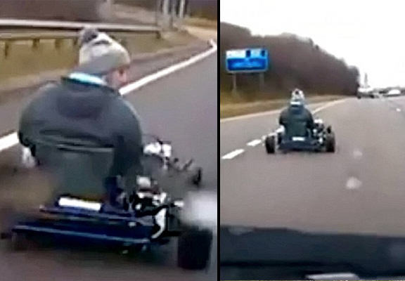 mario kart WEB Driver Takes Go Kart Onto Busy Dual Carriageway In Real Life Mario Kart Moment
