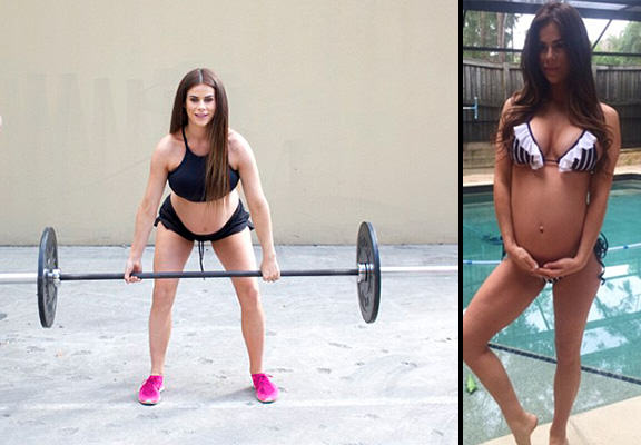 This Super Fit Pregnant Weightlifter Is Expecting Twins pregnant weight WEB