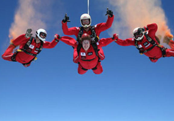 rdv web Red Devils Parachutist Survives Fall After Being Caught By Friend When Chute Failed