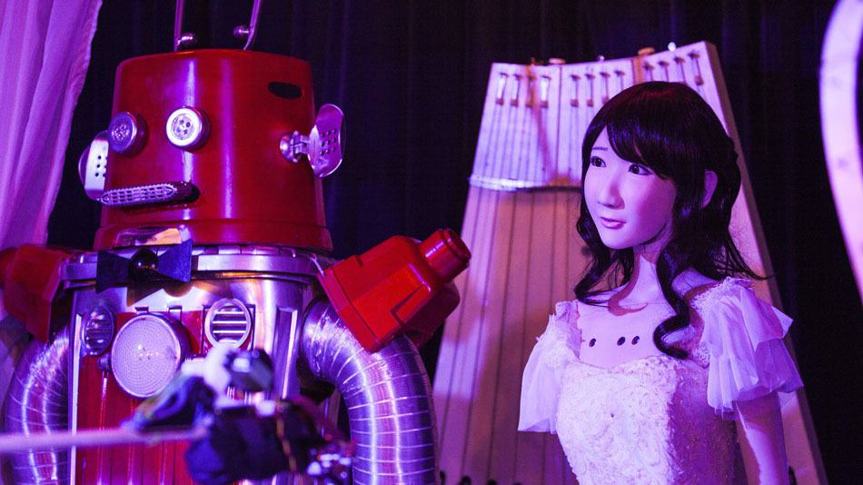 robot wedding 1 The Worlds First Robot Wedding Just Happened In Japan