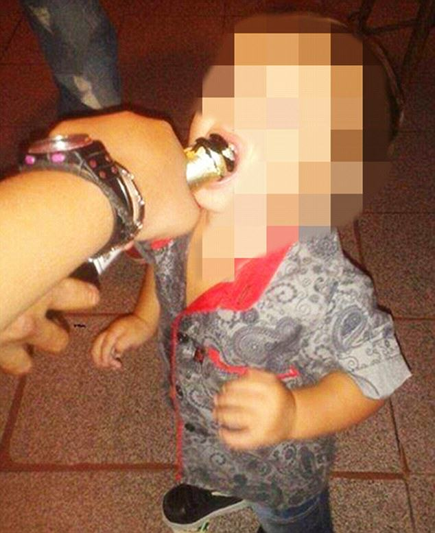 toddler drug 1 Mother Posts Images Of Toddler Smoking Drugs And Drinking, Sparks Outrage