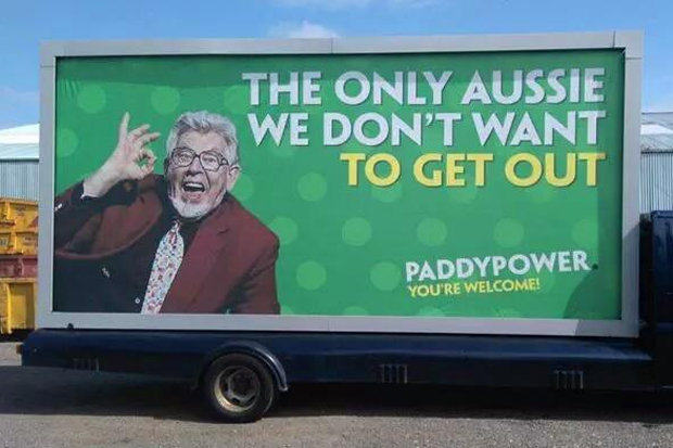 1108 Paddy Power Axe This Controversial Publicity Stunt Involving Rolf Harris