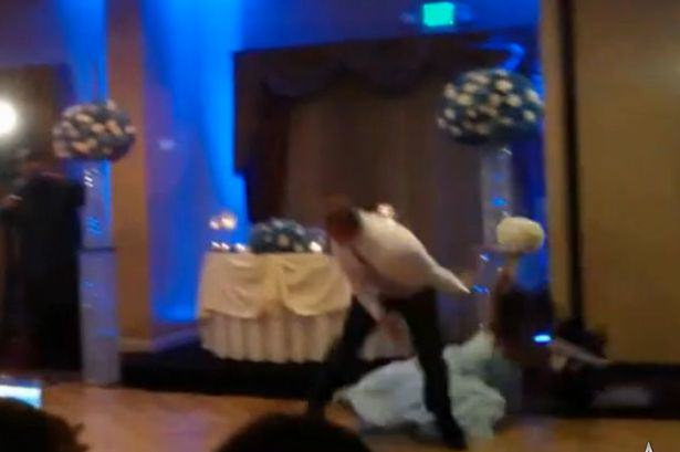 1111 Groomsman Attempts A Backflip On The Dancefloor   Knocks Out A Bridesmaid