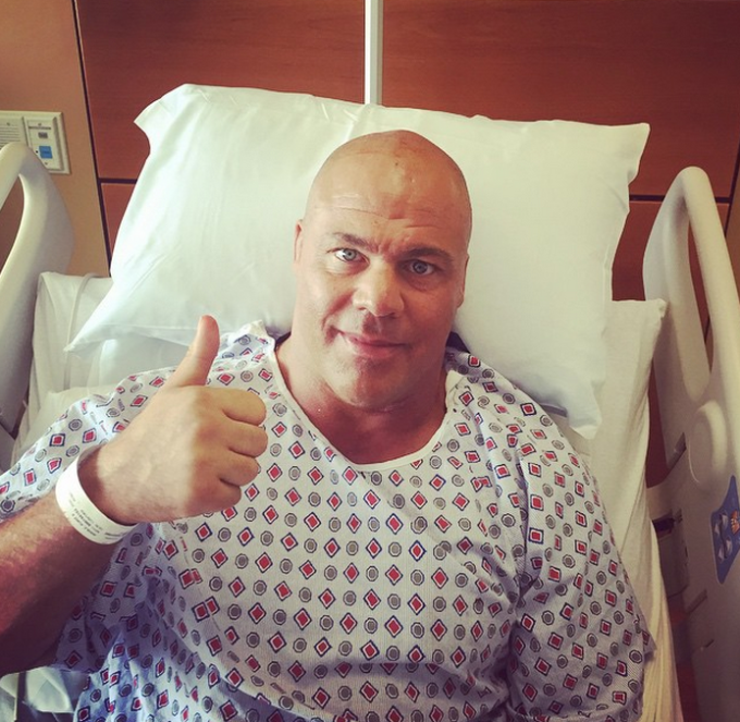 WWE And TNA Legend  Kurt Angle Successfully Has Tumour Removed 16