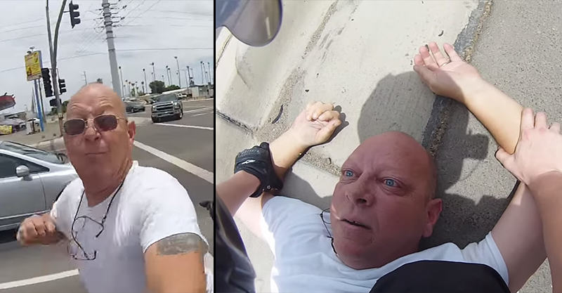 189 Man Punches Motorcyclist In Road Rage Attack, Regrets It Instantly
