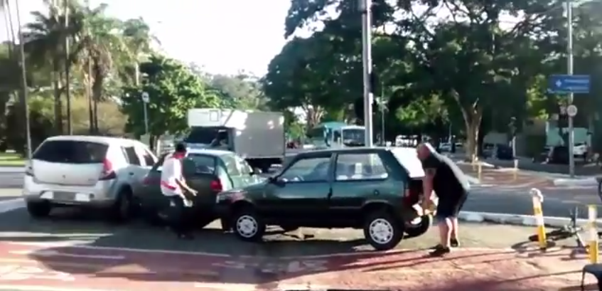 55b76ea2476f5 Massive Guy Lifts Car Out Of Cycle Lane Because He Doesnt F*ck About
