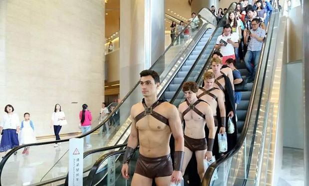 Spartan 2imaginechina Army Of Half Naked Spartan Warriors Repelled By Chinese Police On Streets Of Beijing