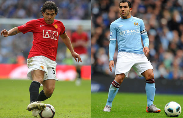 carlos tevez man utd city Five Of The Most Controversial Transfers Of The Last Decade