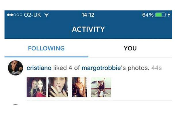 crmr Cristiano Ronaldo Seems To Be Using Insta To Hit On Margot Robbie