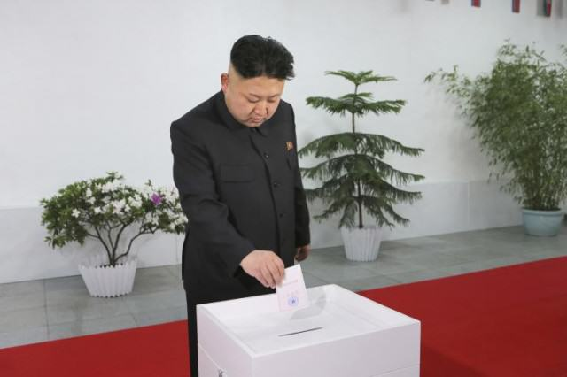 kim jong un vote 640x426 North Korea Sees 99.97% Turnout At Elections