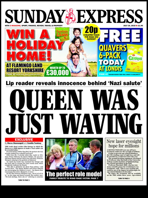 The Express Explanation For That Queen Nazi Salute Footage Is Amazing queen wave lol