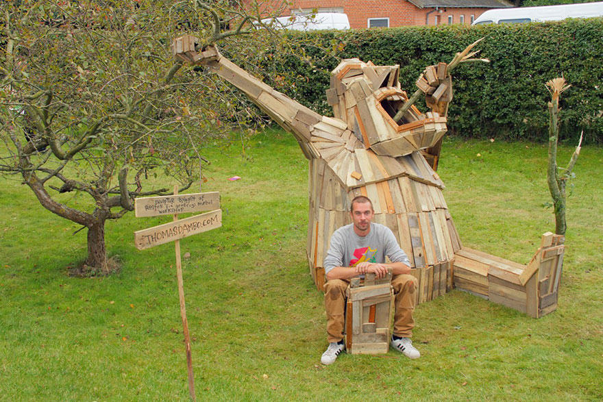 wp6 This Guys Massive Scrap Wood Sculptures Are Incredible