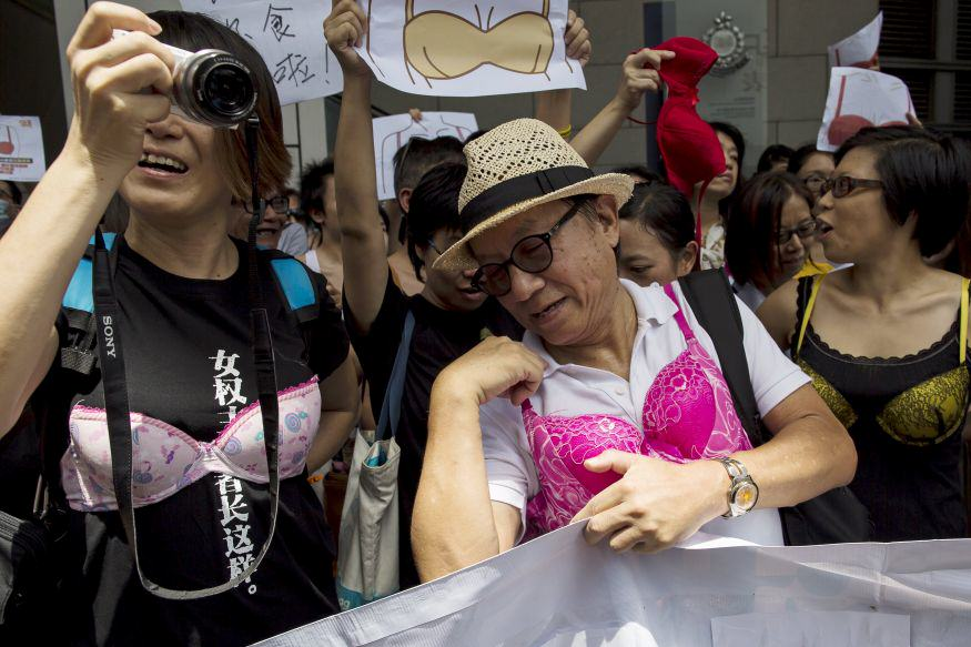 QHPNOcdGpbra protest 2.jpg Men In Hong Kong Are Protesting While Dressed In Lingerie