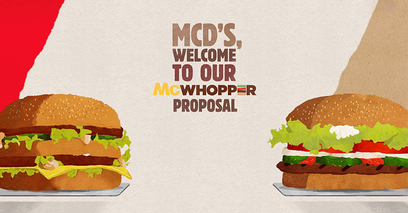 UNILAD 146 Burger King Propose Truce With McDonalds To Make The McWhopper