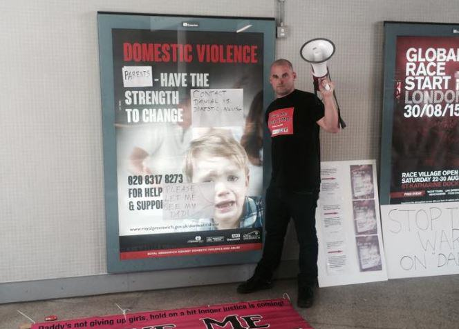 UNILAD New Fathers 4 Justice Bobby7 Activist Dads Removed From Station By Police After Defacing 'Sexist' Posters