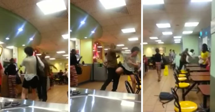UNILAD SMracist5 Footage Of Racist Getting Beaten Up In McDonalds Goes Viral