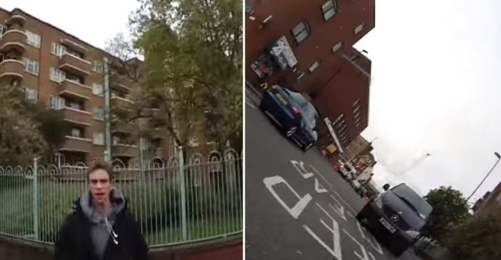 UNILAD TN144 Cyclist Films Moron Shoving Her Off Her Bike And Into Oncoming Traffic