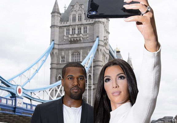 UNILAD WWhn7DNIz Kim And Kanye Waxworks Confuse Commuters In Central London