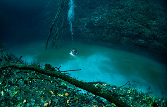 UNILAD diver24 Diver Discovers Incredible Underwater River In Mexico