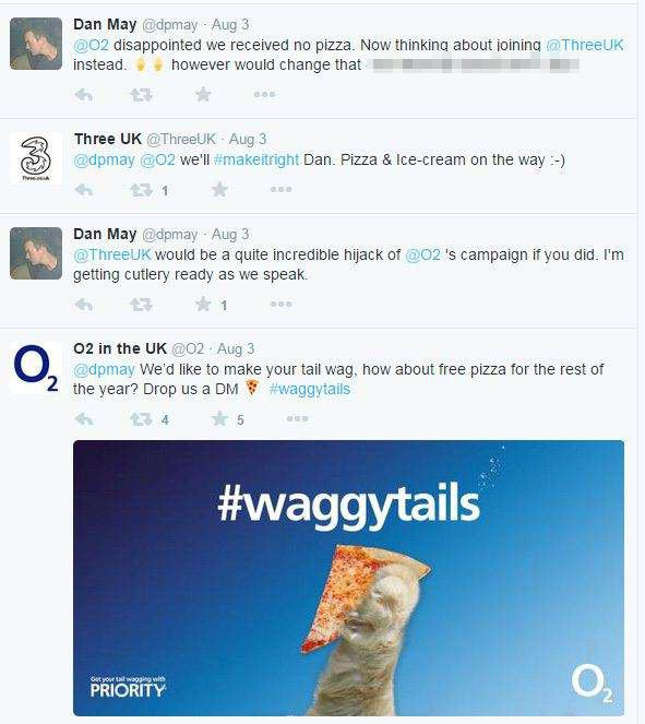UNILAD o2 pizza 4 12 This Guys Twitter Antics Just Bagged Him Free Pizza For Rest Of Year