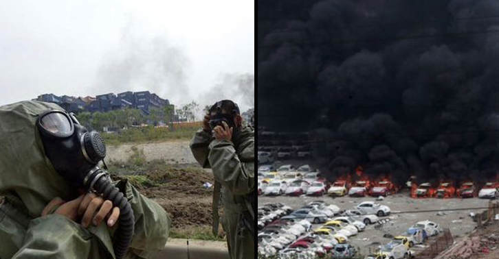 UNILAD tianjin34 Fires In Tianjin Cause Police To Evacuate Over Chemical Contamination Fear