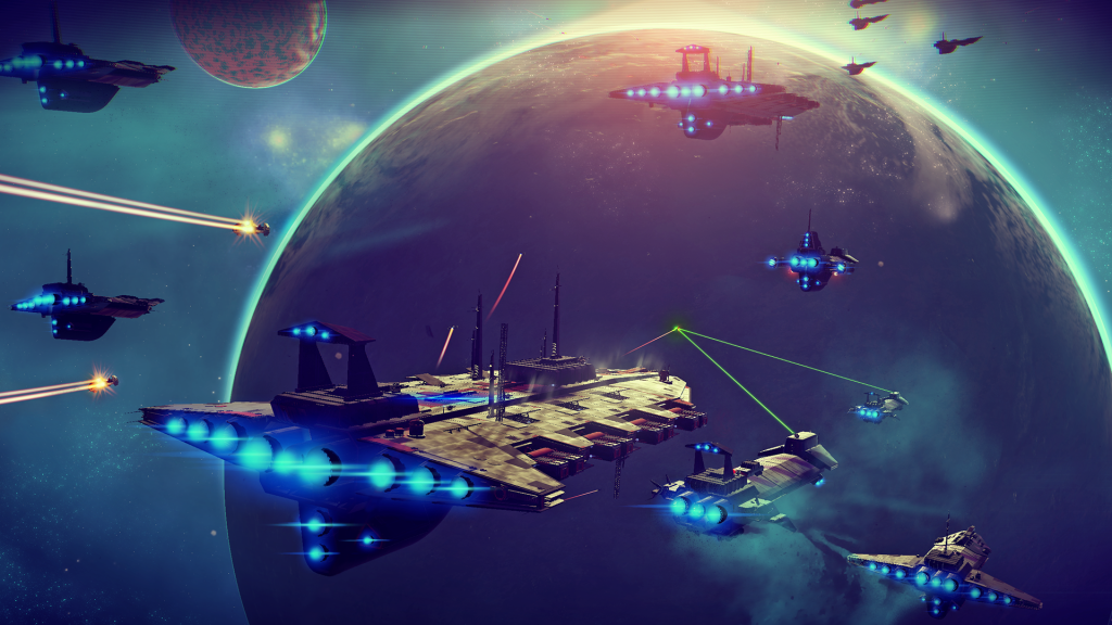 i2aoxLjCUBlueSpace 1024x576.png No Mans Sky Developer Discusses Details Including Natural Disasters And Factions