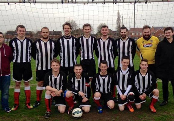 Man v Food Star Sponsors Lincoln Sunday League Team