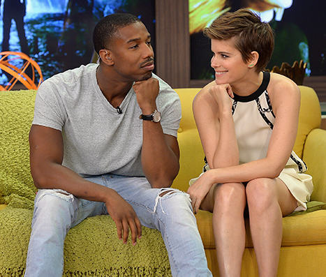 tn4H8rmJW1438524849 michael b jordan kate mara racist sexist questions 1.jpg Fantastic Four Cast Handle Extremely Awkward Interview Like Pros