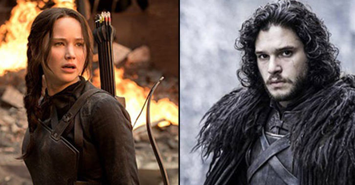 trW0hICHRsnow fb.jpg Katniss Everdeen Takes On Jon Snow In This Epic Hunger Game Of Thrones Clip