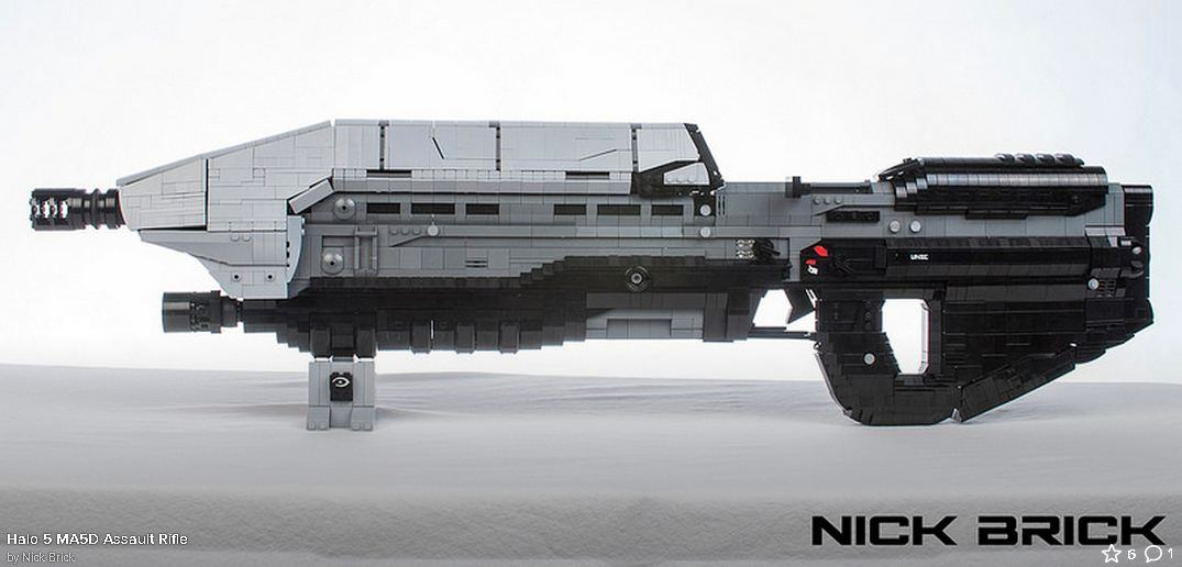 2940501 4 Life Sized Halo 5 Assault Rifle Stunningly Recreated With Lego