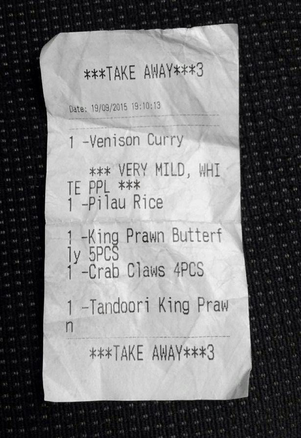White PPL Outraged By Offensive Curry Receipt, Restaurant Responds Brilliantly PAY Take away receipt white people